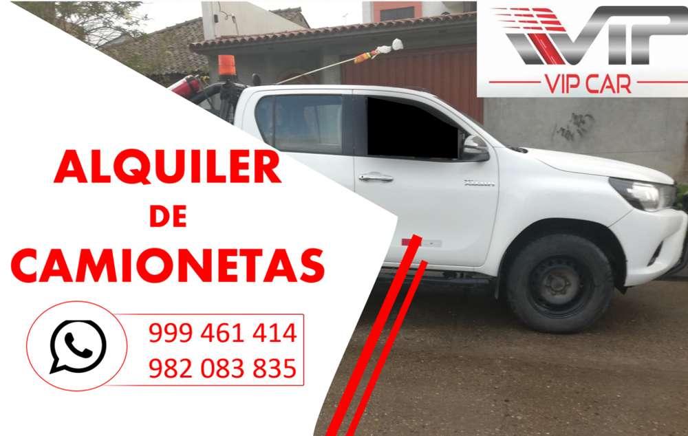 ALQUILER DE CAMIONETAS 4X4 EN HUANCAYO/OROYA/CERRO DE PASCO/HUANCAVELICA