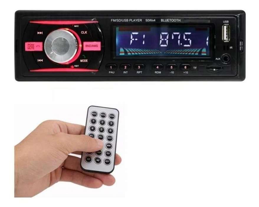 PAGO CONTRA ENTREGA, Radio Para Carro Bluetooth Usb Micro Sd Auxiliar 3.5mm 50x4