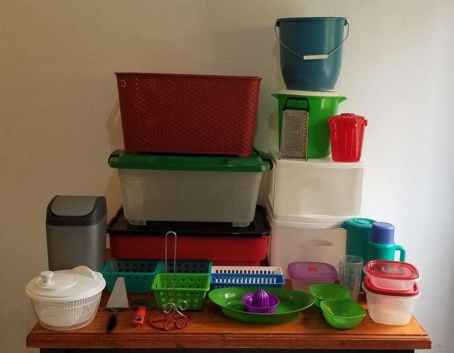 Liquido por mudanza: contenedores, cajones, cestos, tuppers, baldes, termo, jarra, y más...
