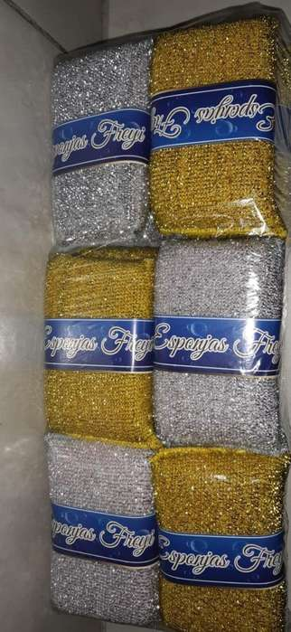Esponjas Oro Y Plata por Bulto de 288 Es