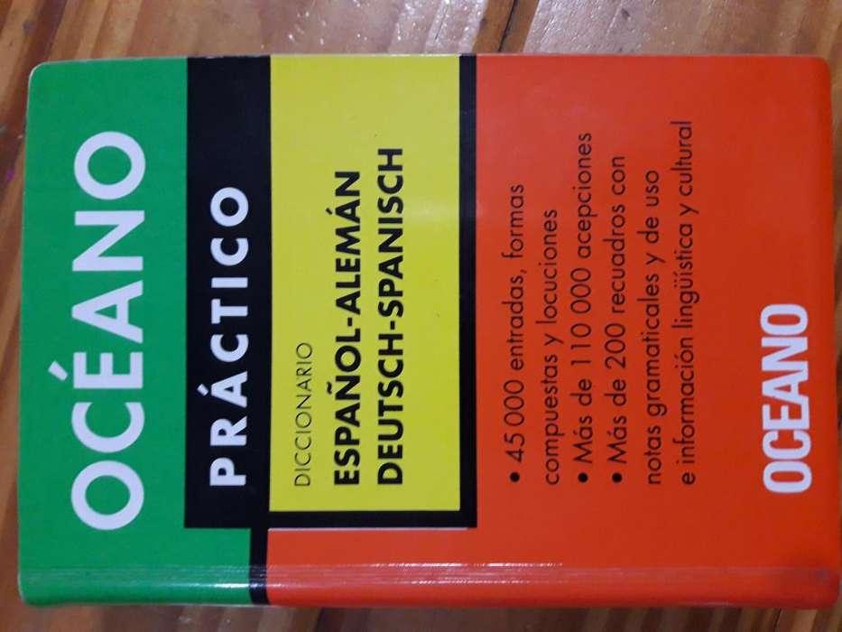 Diccionario bilingüe español alemán, Deutsch Spanisch. Editorial Océano Práctico