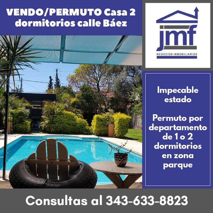VENDO/PERMUTO Casa 2 dormitorios calle Báez