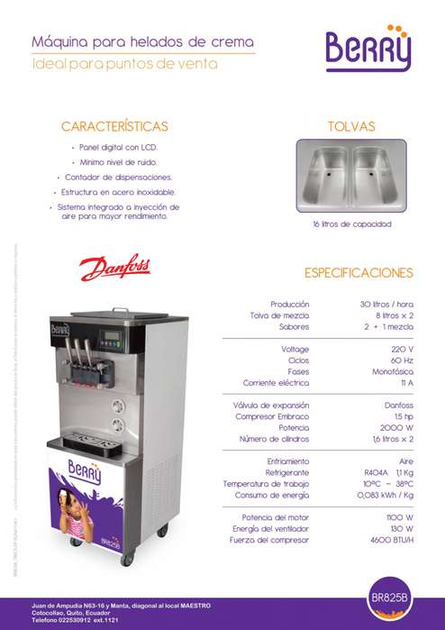 Máquina helados soft con garantía 2900