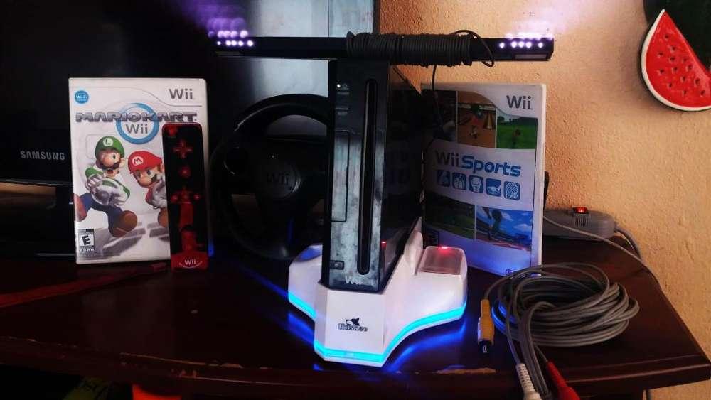 Nintendo WII mas 4000juegos chip 2019 ventilador cargador de pilas volante y accesorios 0998062666
