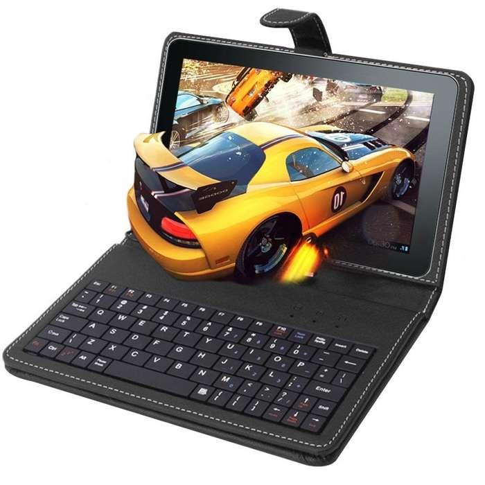 TABLET CON FUNDA TECLADO 7 PULG ANDROID DOBLE <strong>camara</strong> FLASH REDES JUEGOSRAM 1 GB ROM 8 GB NUEVAS GARANTIA