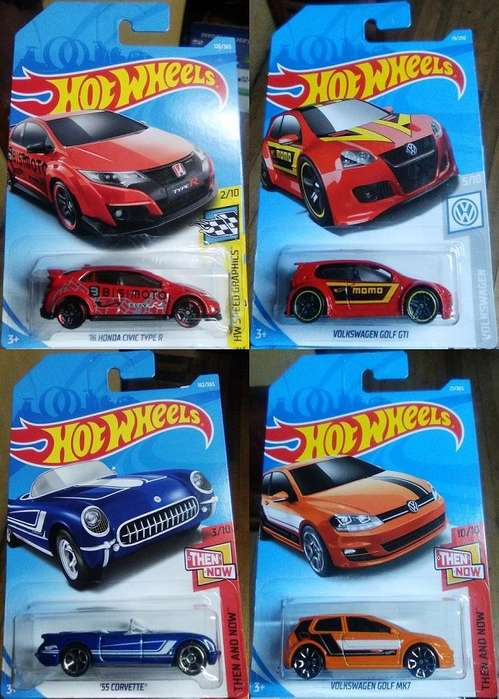 Lote de 4 Autos Hot Wheels en 10 Dólares