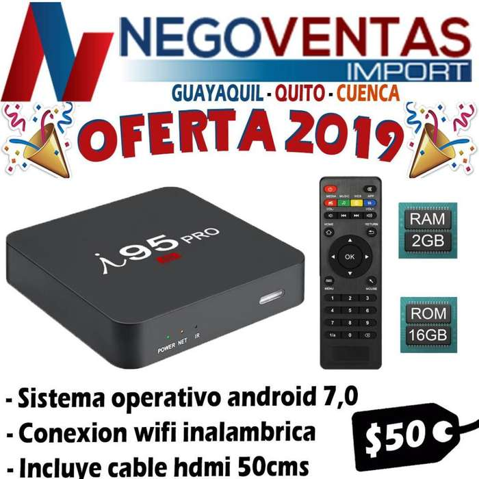 TV BOX I 95 PRO 2GB CONVIERTE TU TV A SMART , DESCARGA TUS APLICACIONES NETFLIX , YOUTUBE
