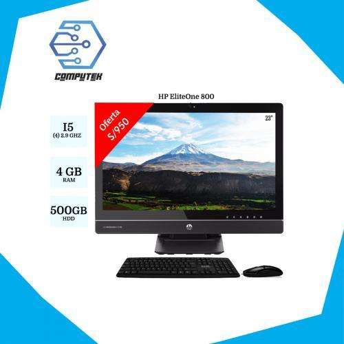 All in One Hp EliteOne 800 G1 Core i5-4ta Gen. Ram 4Gb, HDD 500 GB, Pantalla 23