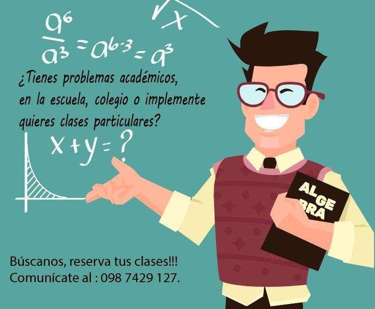 Clases de Matemática, Geometría, y Física para escuelas y colegios