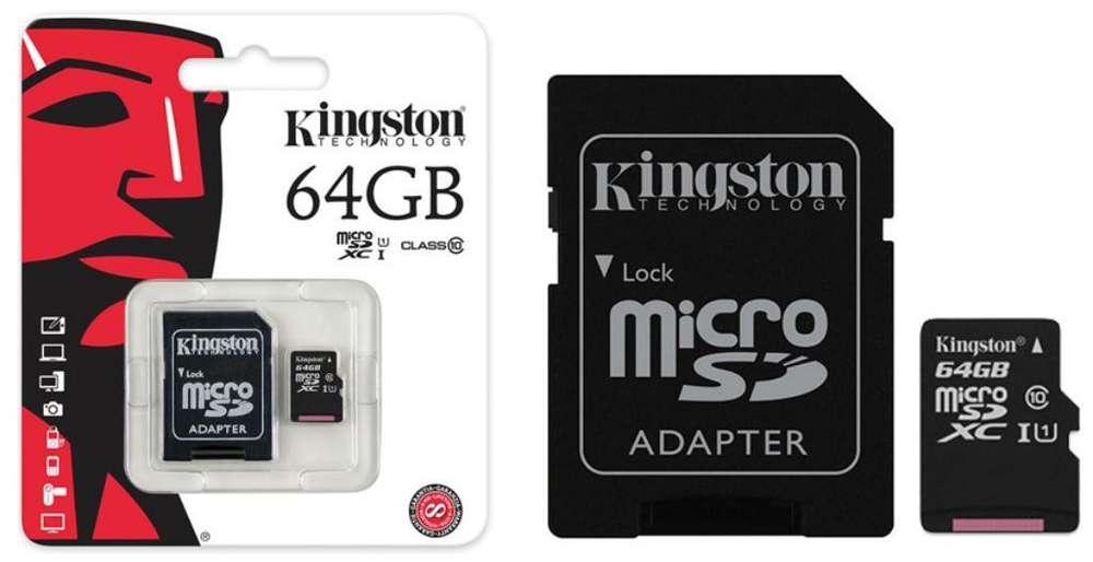 Sd 64 Gb Original Kingston Clase 10
