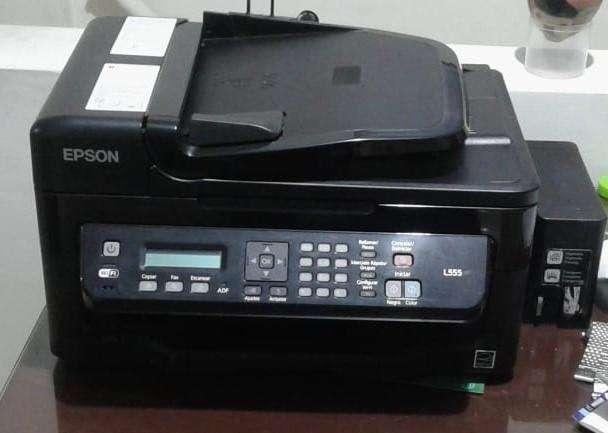 Impresora EPSON l555 con escáner y fotocopias a color.