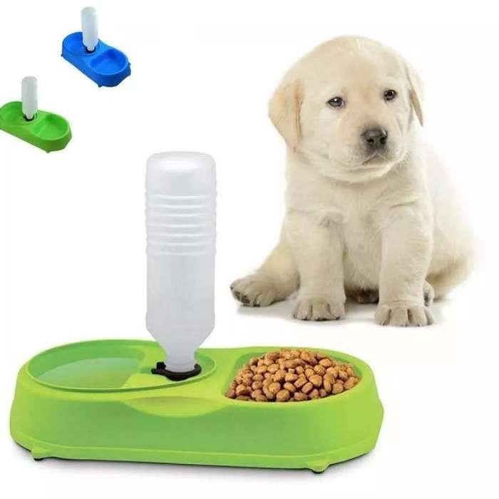 Dispensador Portatil Comida Y Agua Perro / <strong>gato</strong> Doble