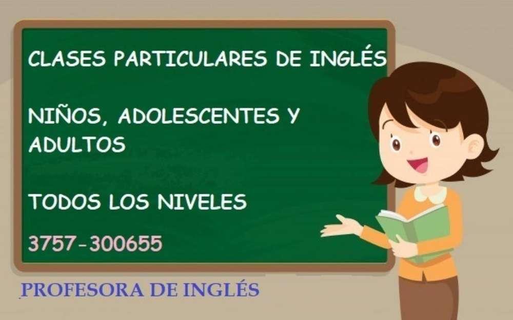 Profesora Particular de Inglés