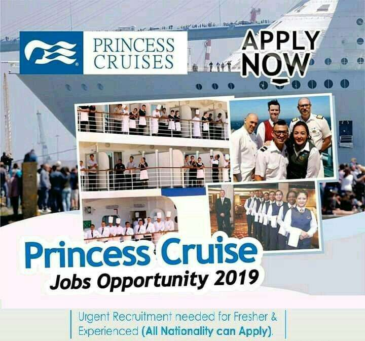 oportunidade de trabalho de cruzeiro princesa