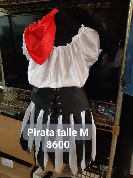Disfraz Pirata Talle M Nuevo.