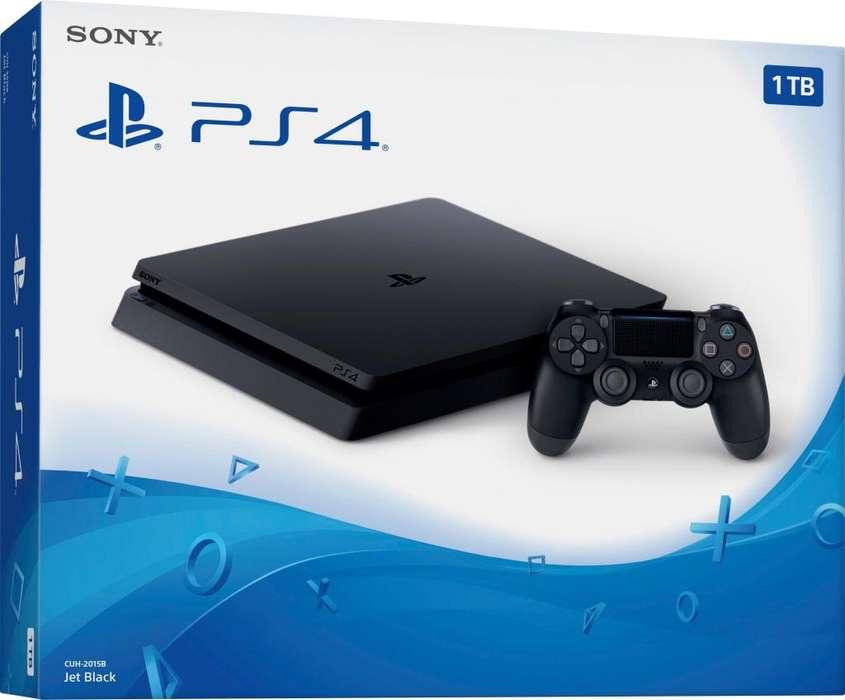 Consola Sony Play Station 4 Slim Con Joystick Ps4 1tb Nueva