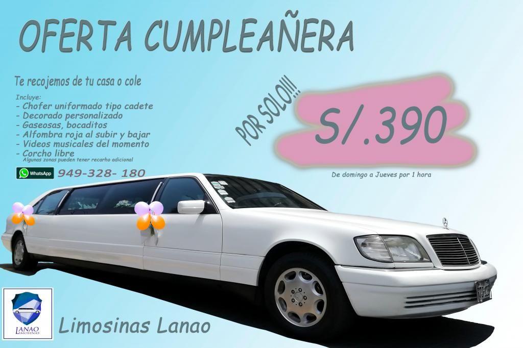 Limosinas ...Oferta Cumpleañera!!!