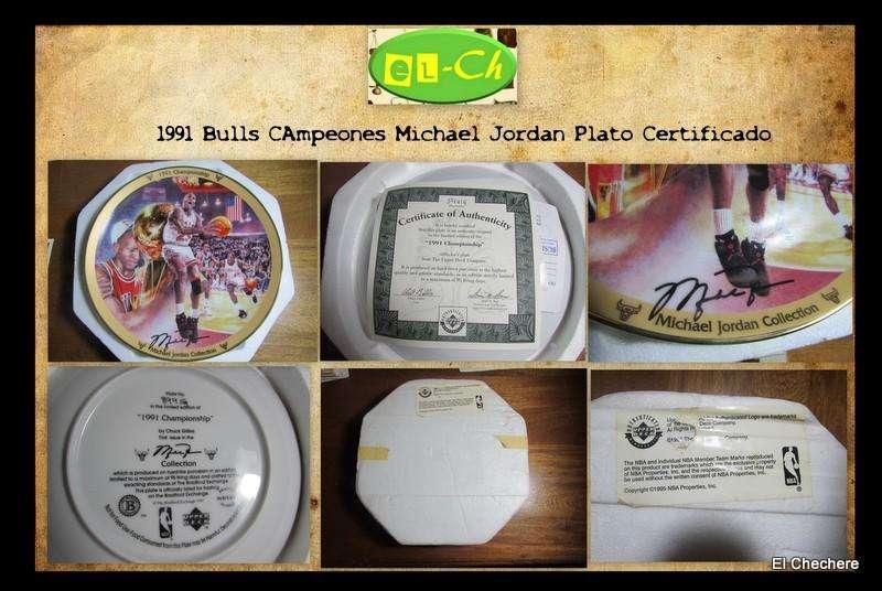 Plato cerámico de Michael Jordan Firmado Certificado Valorizable