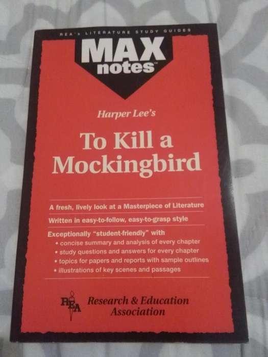 TO KILL A MOCKINGBIRD . HARPER LEE . LIBRO EN INGLES MAX NOTES