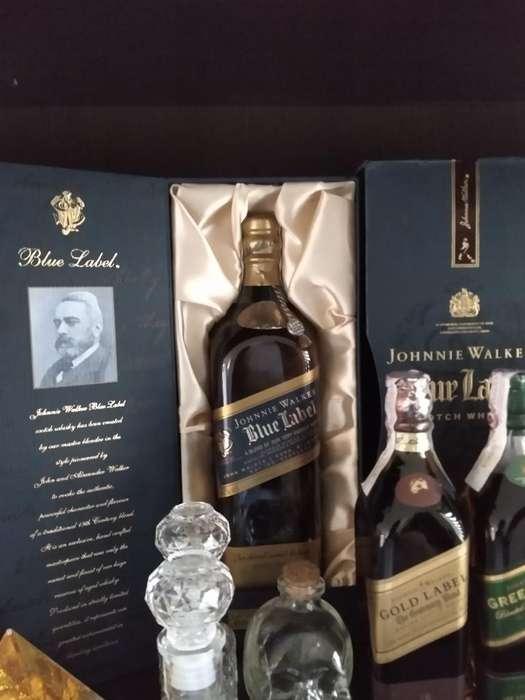 Whisky Johnnie Azul Antigua 750ml