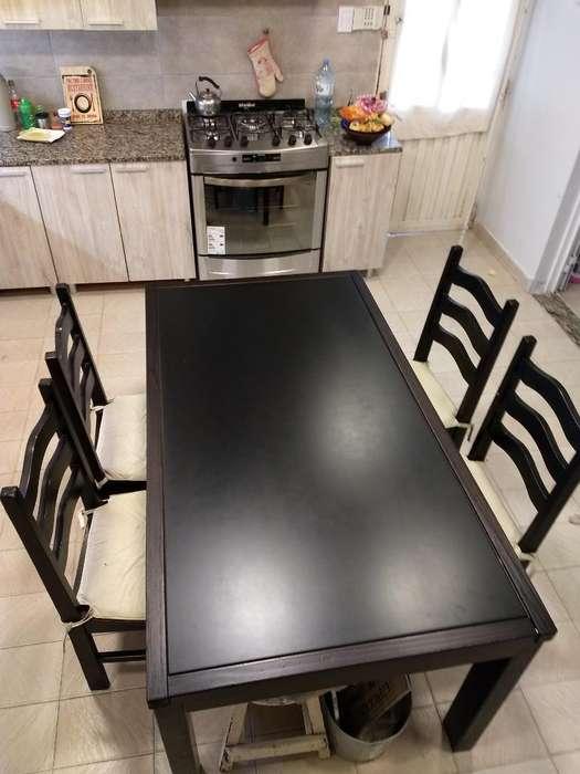 Juego de Comedor en 12 Cuotas (Mesa sola o con <strong>silla</strong>s)