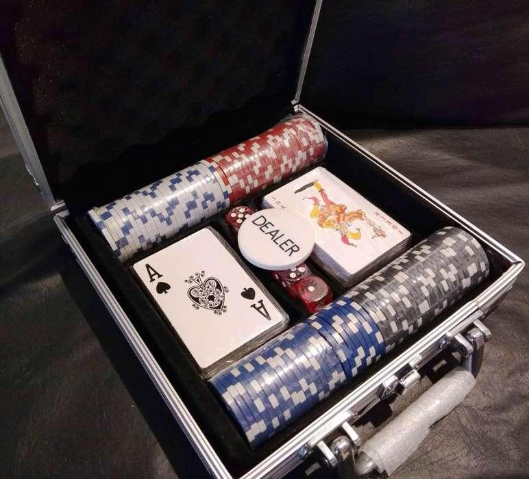Poker Juego Set Maletín