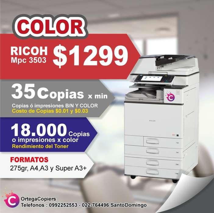 ricoh mpc 3503 oferta colores