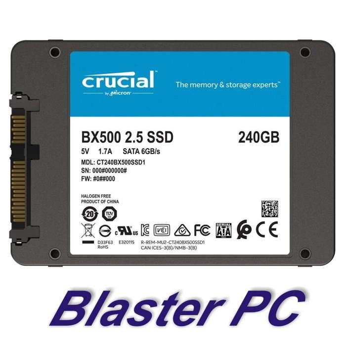 Disco Sólido Ssd Crucial 240gb 540mb Bx500 Zona Alto Rosario BLASTER PC