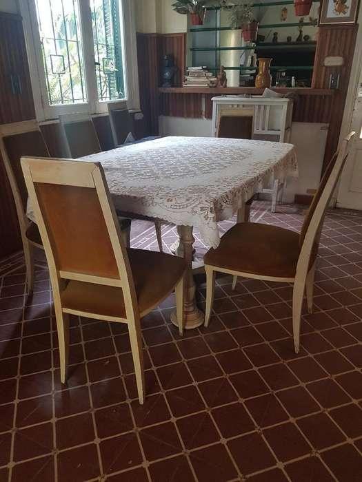 Mesa Comedor Y Seis <strong>silla</strong>s de Estilo