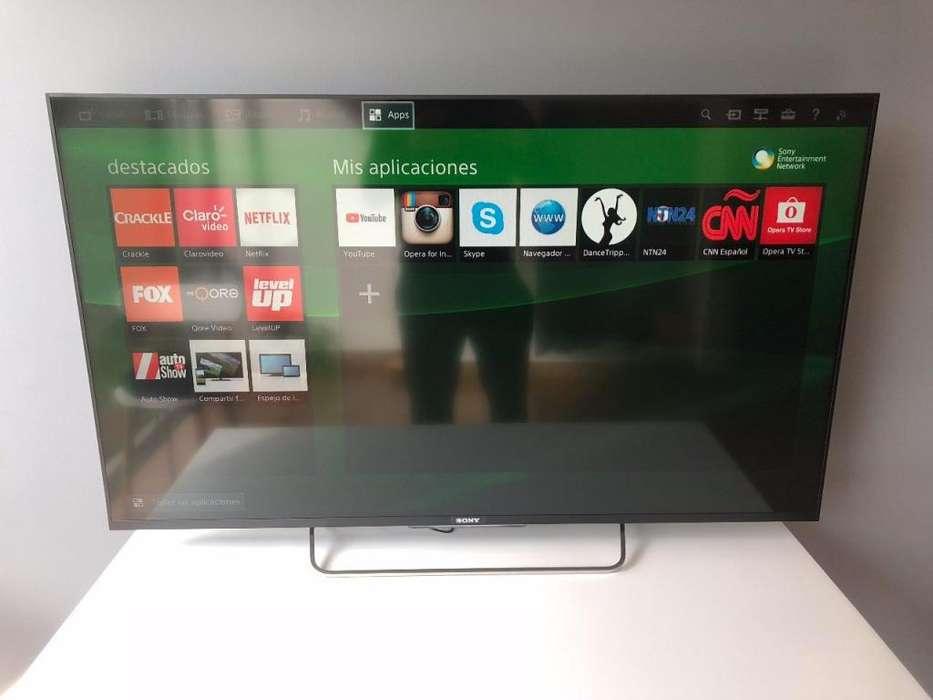 TELEVISOR SONY BRAVIA DE 55 PULGADAS SMART TV, 3D WIFI ULTRADELGADO PRACTICAMENTE NUEVO