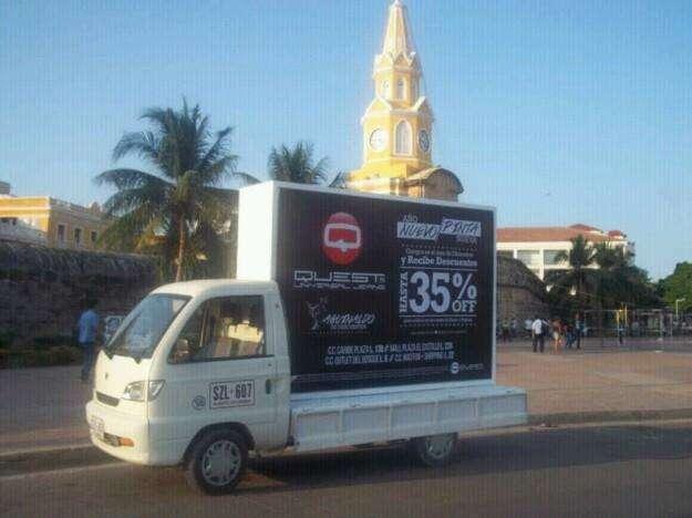 Publicidad carro valla cartagena