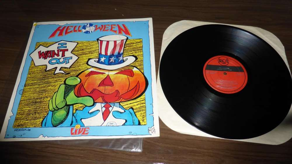 Helloween I want Out Live Lp epoca