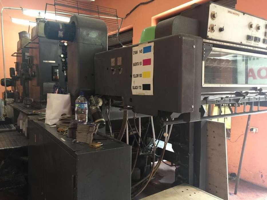 ¡Máquina Offset Heidelberger de Pliego en excelente estado, funcional y negociable!