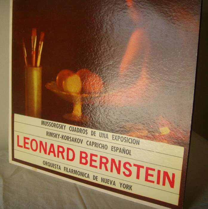 Disco De Vinilo L P Mussorgsky Y Rimsky Korsakov Leonard BERNSTEIN