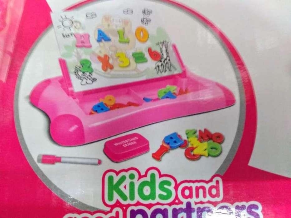 tablero didactico magnetico para niñas y niños