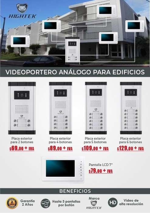 Video-portero analogo para edificios marca hightek 2/4/5/6 botones /Quito-Guayaquil