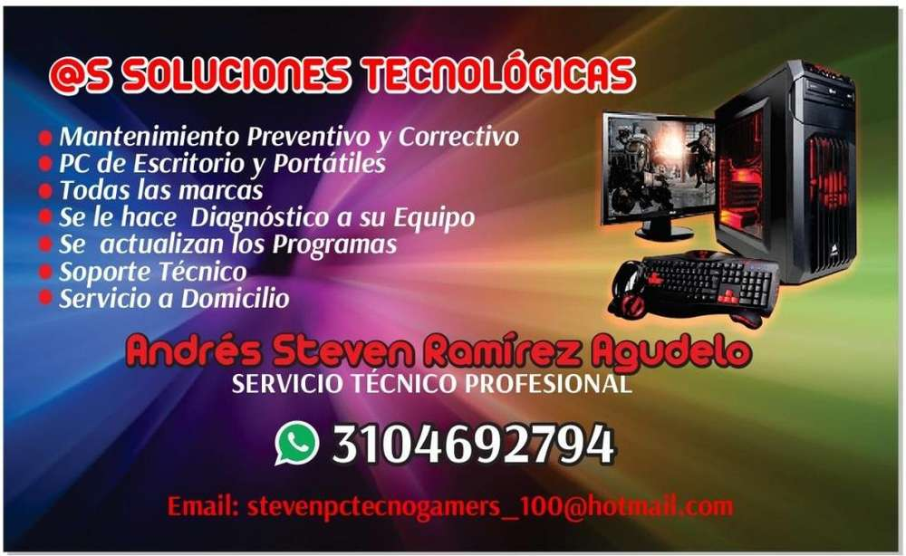 SERVICIO TECNICO MANTENIMIENTO PREVENTIVO CORRECTIVO EQUIPOS COMPUTO.