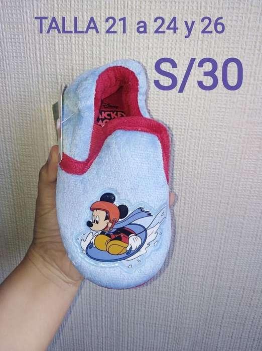 Pantuflas Cars Y Mickey