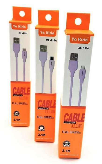 Cable de Datos Tipo C Carga Rapida 2.4A Full Speed Quick Charge & Data