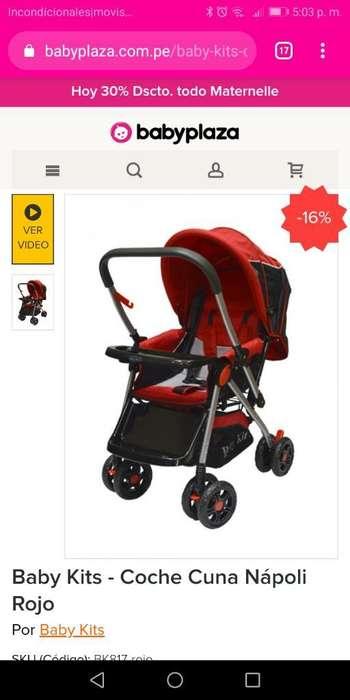 Coche Baby Kit Unisex Rojo Nuevo