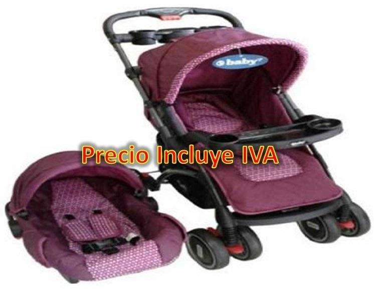Coche Porta Bebe 3 En 1, Con Canasta Portabebe Soporta 120lb Nuevo PRECIO INCLUYE IVA