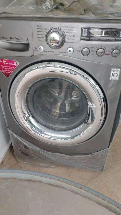 Lavadora secadora lg inverter