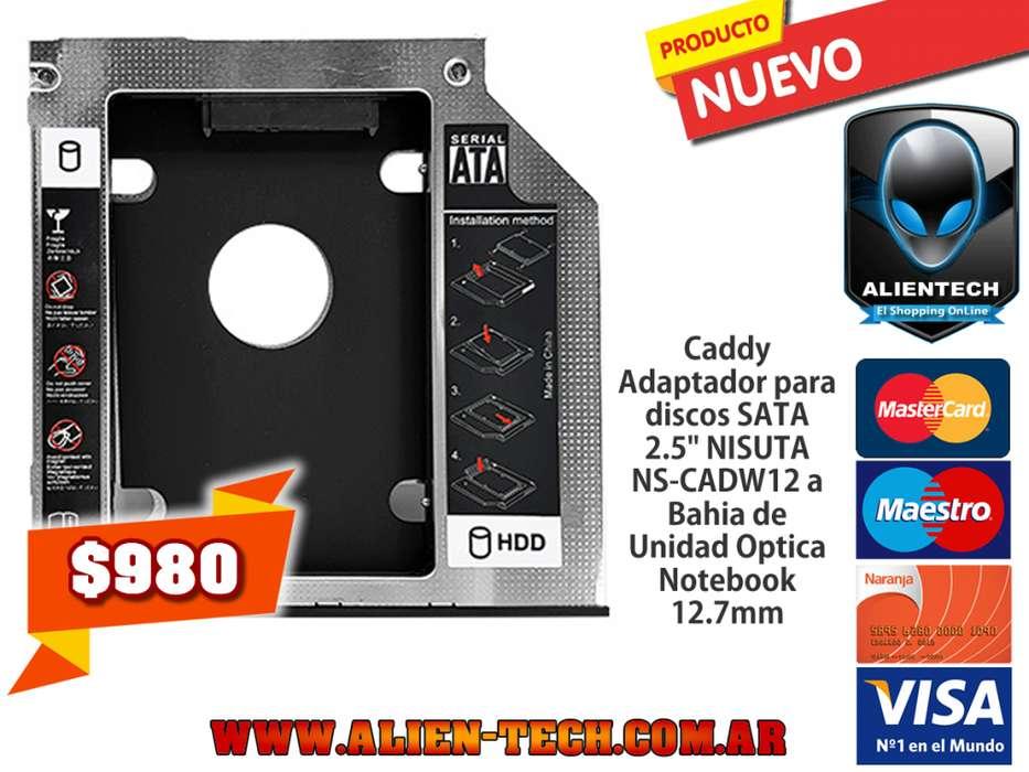 ALIENTECH: Caddy Adaptador para discos SATA 2.5