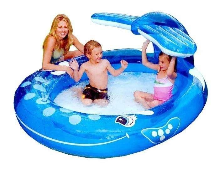 piscina ballena para niños