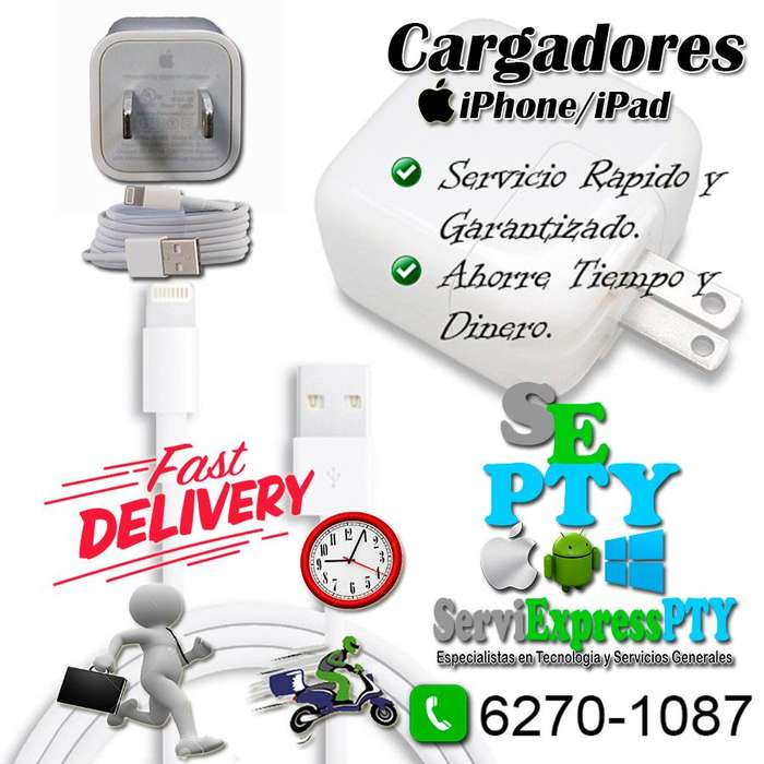 Cargadores para iphone/ipad originales entregas delivery
