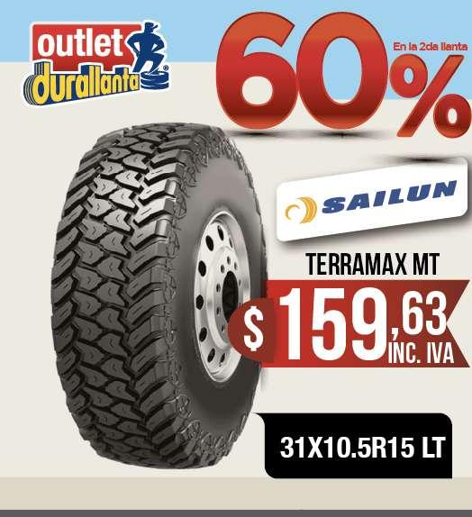 <strong>llantas</strong> 31X10.5R15 LT SAILUN TERRAMAX MT