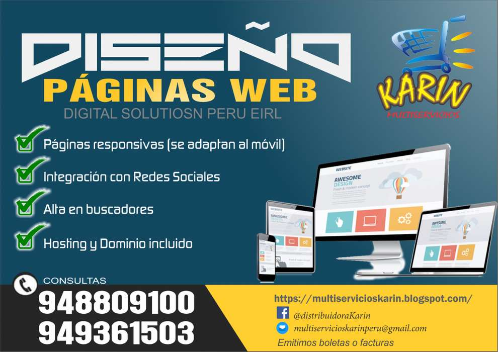 DISEÑO DE PAGINAS WEB RESPONSIVAS. PERSONALES O CORPORATIVAS..