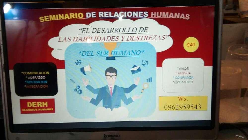 !<strong>seminario</strong> Destrezas Relaciones Humanas!