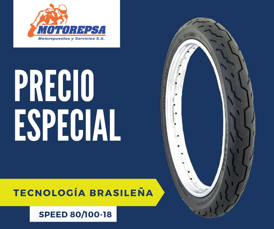 Llanta TECHNIC Speed 80/10018 para MOTO HONDA CG 125, CBX 150/200, YAMAHA YBR