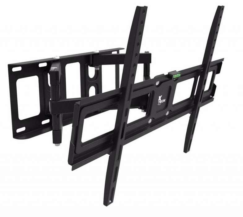 SOPORTE PARED DE TV LED LCD XTECH XTA450 32 PULGADAS / 65 PULGADAS INCL. MENOS 12 MAS12º GIRA. 180º NEGRO
